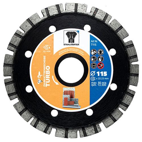 Diamanttrennscheibe Turbo 115 mm von STAHLHÄRTER