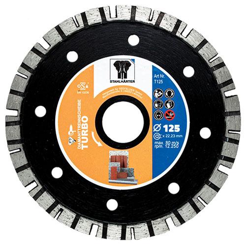 Diamanttrennscheibe Turbo 125 mm von STAHLHÄRTER