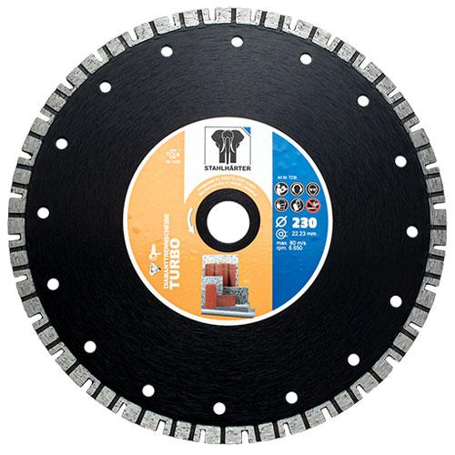 Diamanttrennscheibe Turbo 230 mm von STAHLHÄRTER