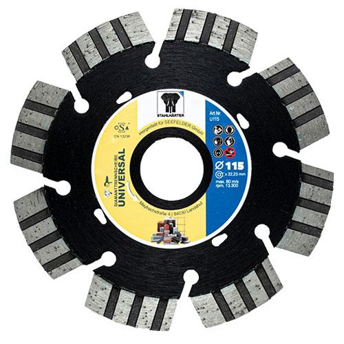 Diamanttrennscheibe Universal 115 mm von STAHLHÄRTER